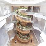 螺旋階段でリラックス!オフィスビルの癒し空間