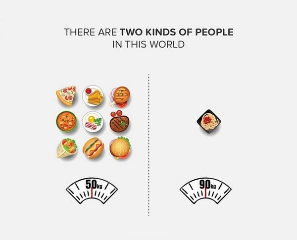二種類の人間。シンプルなカラーイラストで表現 (5)