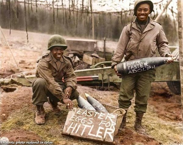 カラー化された白黒写真。第二次世界大戦中WWIIの画像 (10)