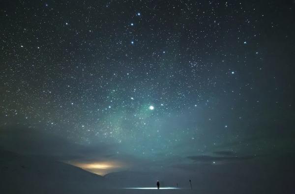 フィンランド北欧の美しい夜空。満天の星の画像 7