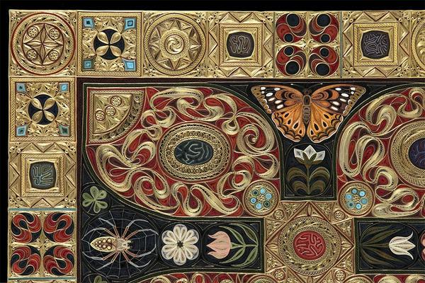 紙で作られた絨毯など、超大作なペーパークイリングアート! (8)