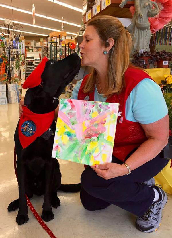 犬の画伯現る!補助犬から画家に転向したわんこの絵 (7)
