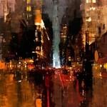 ぼんやり美しい。朧げに描かれる都市景観の油絵作品
