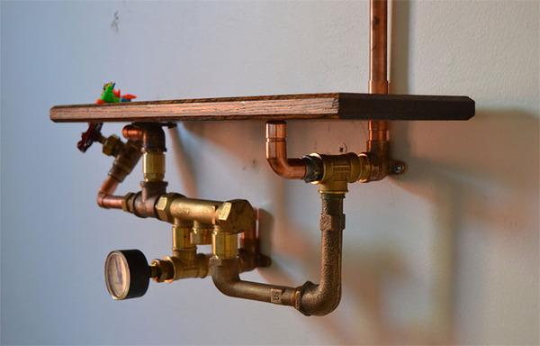 スチームパンクっていいよね。真鍮、銅、金属部品で作る家具 (5)