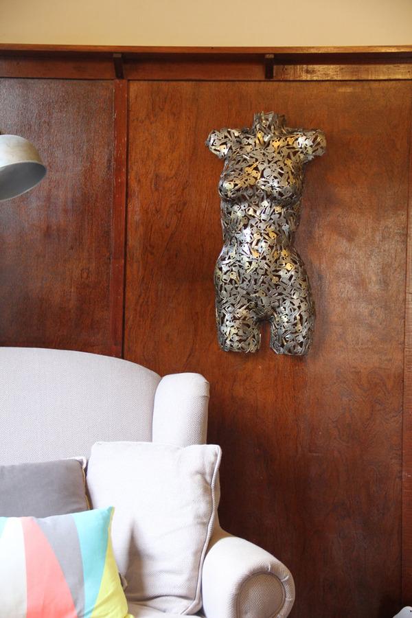 金属彫刻のリサイクルアート michael-moerkey 7