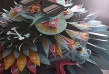 切った紙を重ねる!立体的な紙のアートワーク Shotopop