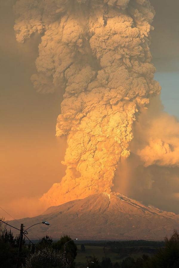 チリのカルブコ火山噴火 2015年 7