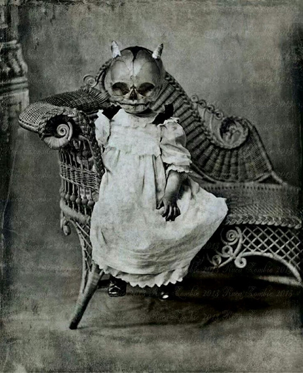 昔のハロウィンの写真がガチでホラーすぎる…! (17)