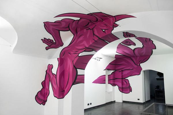 立体的なグラフィティアート!アナモルフィックで3Dな壁画 (8)