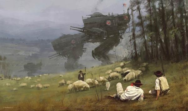 レトロな時代背景に機械的なSF要素。戦争を描いた空想世界 (22)
