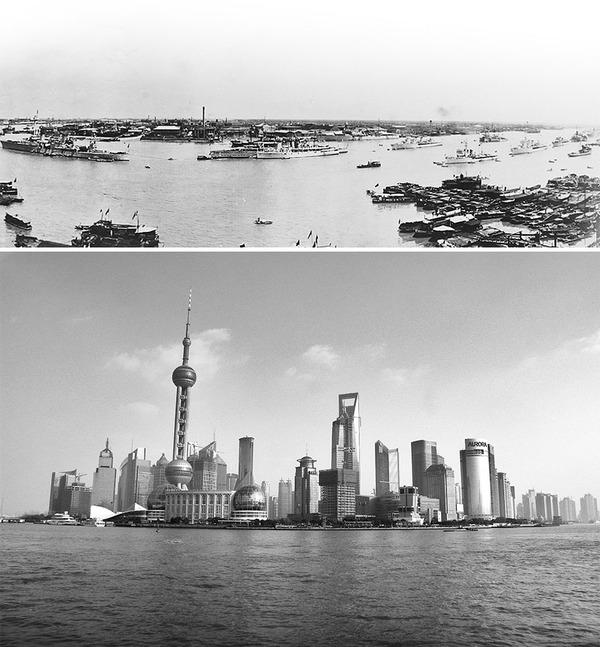 発展した中国の都市風景を比較!過去と現在の画像100年 (2)