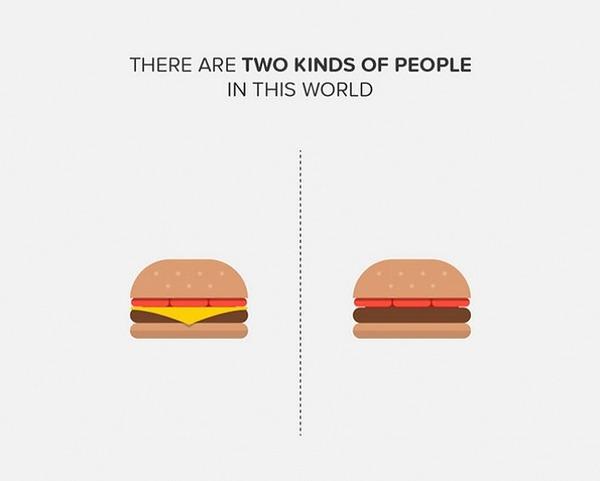 二種類の人間。シンプルなカラーイラストで表現 (7)