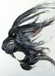 荘厳なるトラの顔面。鋼鉄からなる野生動物の金属彫刻マスク
