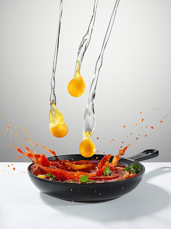 躍動する料理や食べ物の画像 (2)
