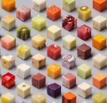 何の食材か分かる?完璧にカットされた立方体の食べ物!