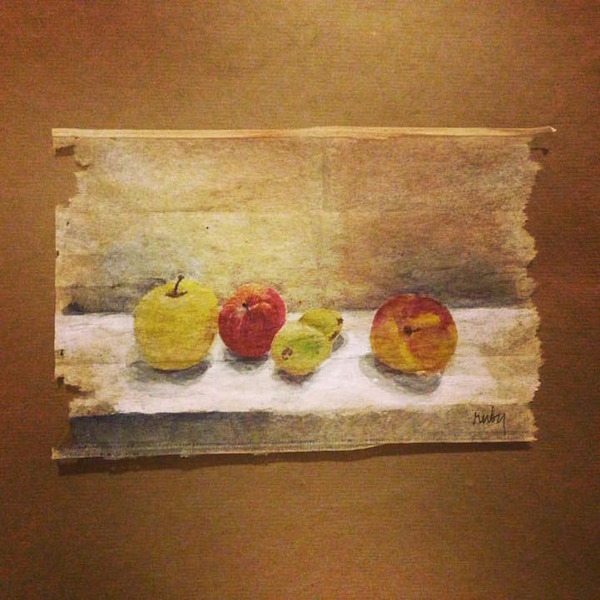 ティーバッグをキャンバスにして毎日絵を描く! (8)