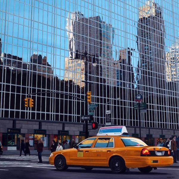 写真と見間違いそう!超精密でリアルな都市風景画 (3)