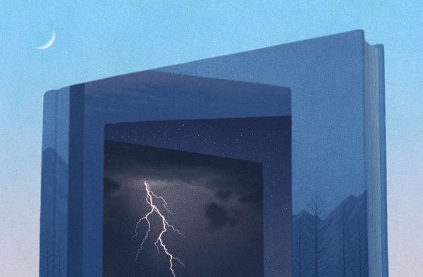 色んな本の形。本をモチーフにしたイラスト (17)