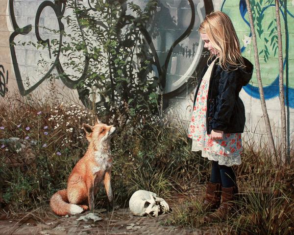 少女と動物と街。壊れた世界のコントラストをリアルに描く (6)
