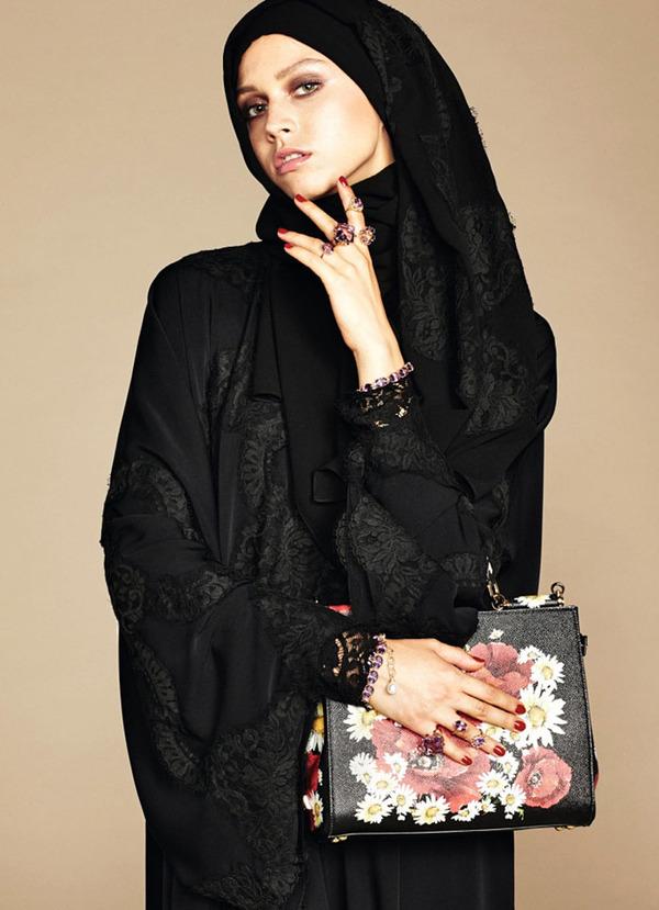 ヒジャブとアバヤのモダンファッション by ドルチェ&ガッバーナ (8)