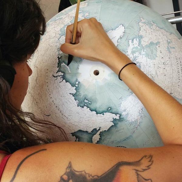世界を旅したくなる。価値ある手作り地球儀の製作現場 (4)