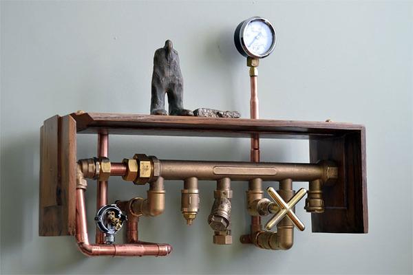スチームパンクっていいよね。真鍮、銅、金属部品で作る家具 (18)