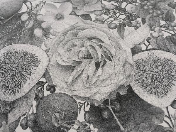 700万の点で描く!370時間をかけて制作された絵画『Autumn』 (7)