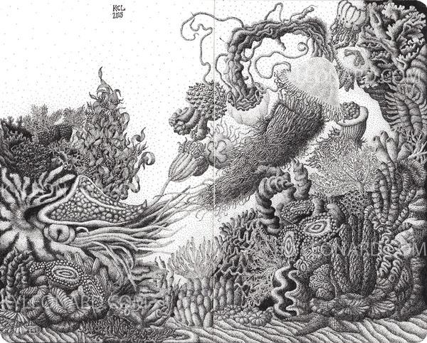 ひたすらに点を打って描く!超繊細な手描きドット絵 (4)