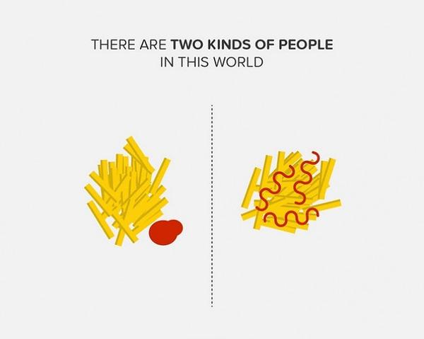 二種類の人間。シンプルなカラーイラストで表現 (14)