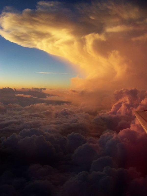 アメリカミズーリ州の雲の上