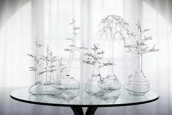 ガラスのアート:盆栽