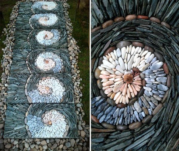 ぐるぐる!渦巻いた塀やレンガの石工彫刻 (4)
