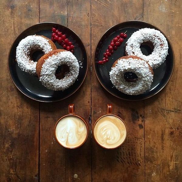 美味しさ2倍!毎日シンメトリーな朝食写真シリーズ (12)