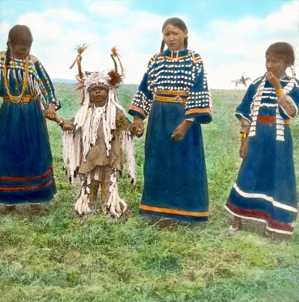 インディアン(ネイティブ・アメリカン)の貴重なカラー化写真 (4)