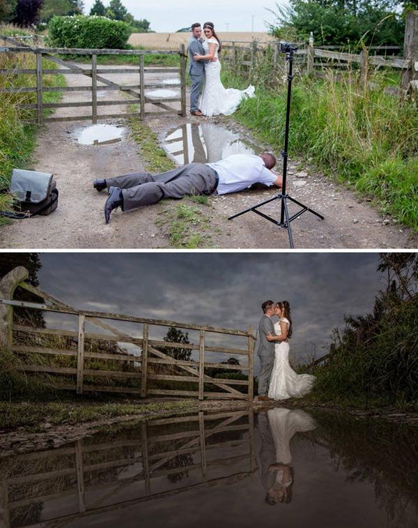 結婚写真の裏で頑張るカメラマンの努力画像 (12)