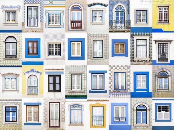 ポルトガル、エリセイアの玄関ドア
