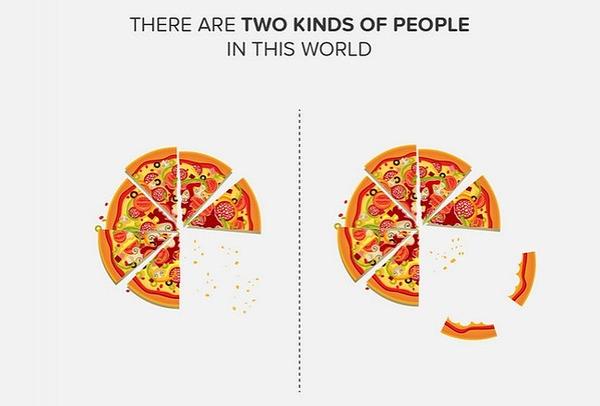 二種類の人間。シンプルなカラーイラストで表現 (1)
