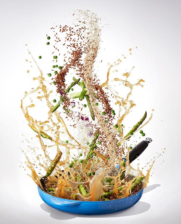 躍動する料理や食べ物の画像 (1)