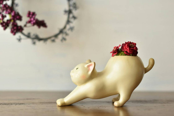 動物や植物な樹脂製アートプランター!『HARIMOGURA』 (4)
