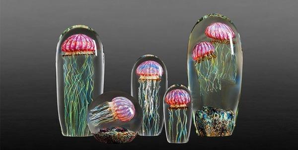 クラゲのガラスアート Richard Satava 11