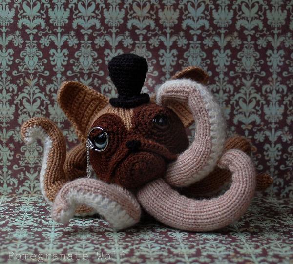 キモカワ?タコの足とイヌの顔が合体している編み物『Octodogs』 (1)