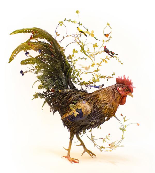 動物と植物が融合した幻想的な彫刻!Ellen Jewettの新作紹介 (10)