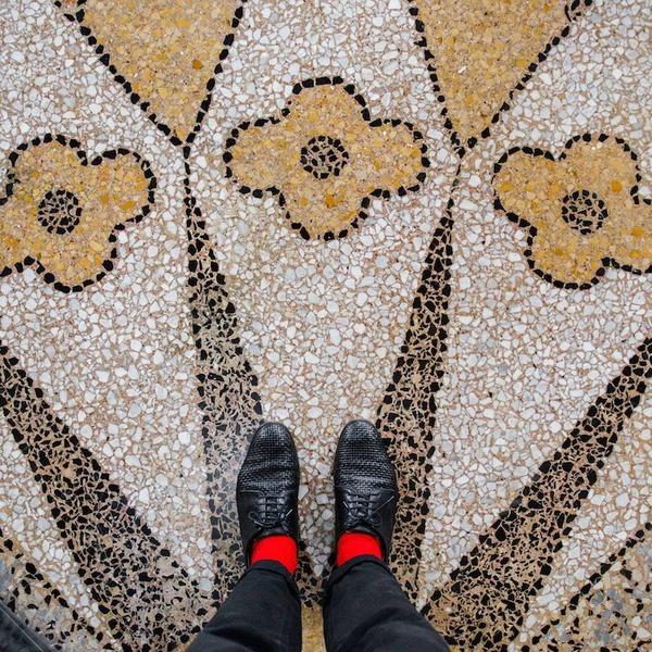 色んな床いっぱい。イタリア、ヴェネツィアの床のデザイン (10)