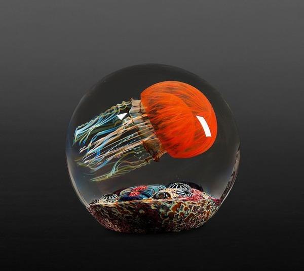 クラゲのガラスアート Richard Satava 8