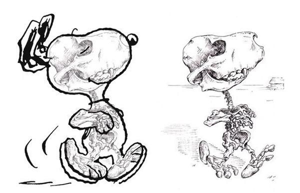 解剖学?漫画やアニメのキャラクターに骨付けしたイラスト! (1)