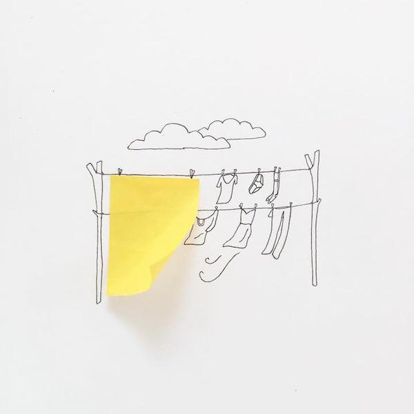 アイディア無限大!物を組み合わせたユニークなイラスト (2)
