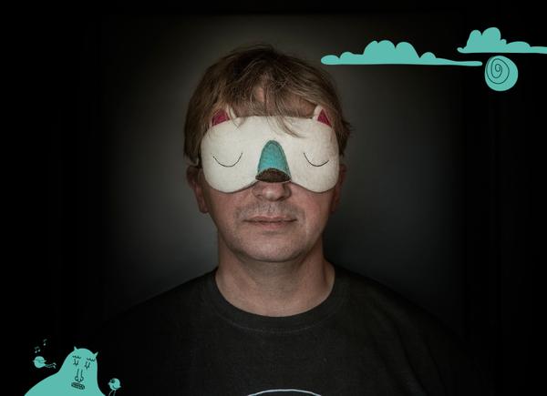 ホッキョクグマのアイマスク