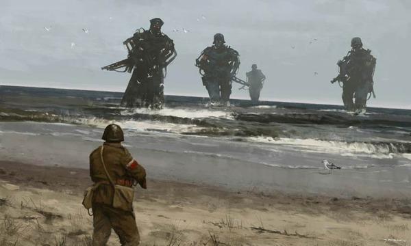 レトロな時代背景に機械的なSF要素。戦争を描いた空想世界 (7)