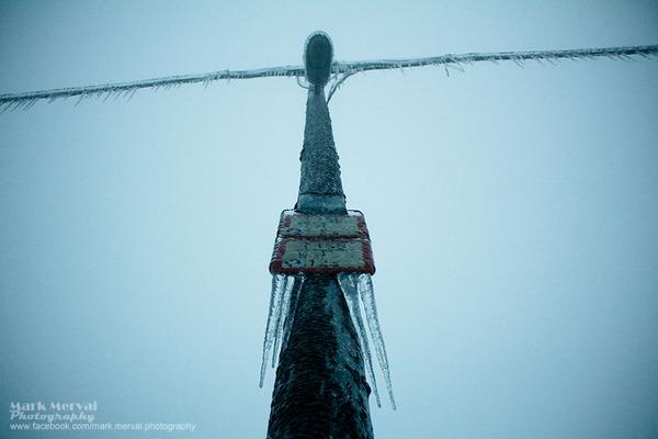 ハンガリーの電柱