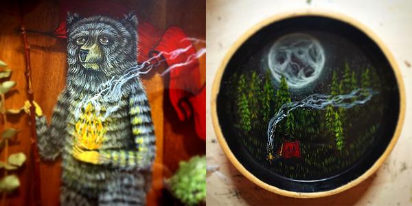 人間に進化したかのような森の動物アート Drew Mosley 5